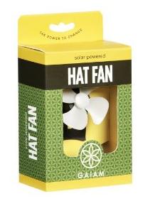 Gaiam Solar Powered Hat Fan