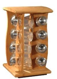 Totally Bamboo Spice Rack 16-bottle