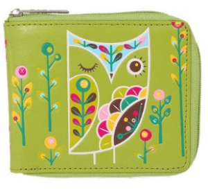 Gama-Go Pattern Owl Vegan Zip Wallet