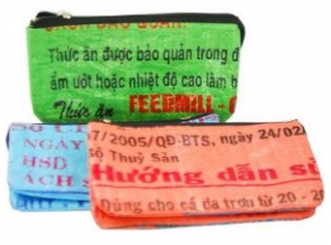 Recycled Rice Bag Wallet - Made By Survivors