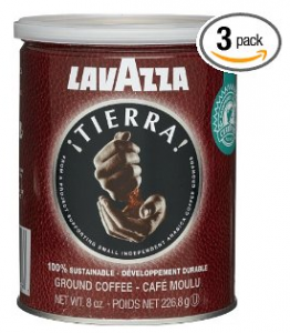 Lavazza Tierra! 100% Sustainable Ground Coffee (Pack of 3)