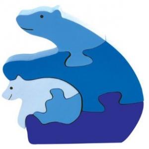 Polar Bear & Cub Puzzle - Non-toxic, Sustainable, Safe