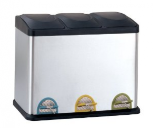 Neu Home Organize It All Stainless Step-On Recycle Bin