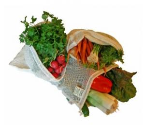 Organic Cotton Reusable Mesh Produce Bag