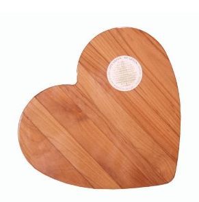 Out of the Woods of Oregon Heart 11-by-11-Inch Cutting Board
