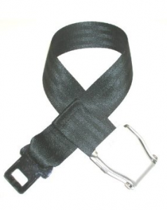 Recycled Airline Seatbelt Belt and Buckle