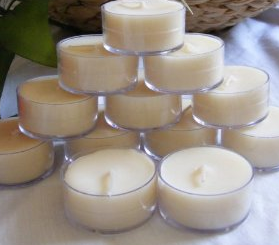 25 Soy Tealights Unscented Clear Cup by Soyworx