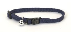New Earth Soy Breakaway Cat Collar, .375-Inch, Indigo Blue