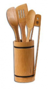Joyce Chen Burnished Bamboo 5-Piece Utensil Set