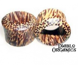 Pair Organic Coconut Wood Eyelet Tunnel Plugs 6 Gauge (4mm)