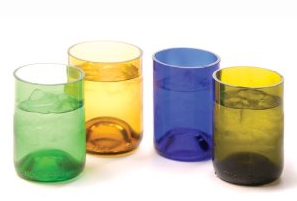 Oenophilia Recycled Glass Wine Bottle Tumblers