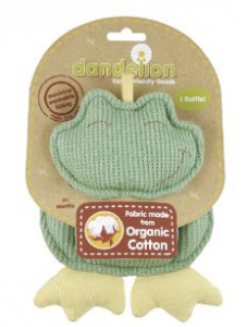 Dandelion Classic Organic Toy Rattle